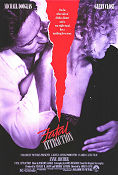 Fatal Attraction 1987 poster Michael Douglas Adrian Lyne