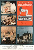 Fellini Roma 1973 Movie poster Anna Magnani Federico Fellini