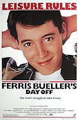 Ferris Bueller's Day Off 1986 Movie poster Matthew Broderick John Hughes