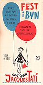 Jour de Fete 1949 Movie poster Guy Decomble Jacques Tati