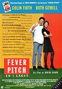 Fever Pitch 1996 Movie poster Colin Firth David Evans