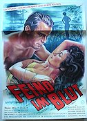 Feind im Blut 1957 Movie poster Willy Sedler
