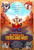 Fievel Goes West 1991 Movie poster Don Bluth