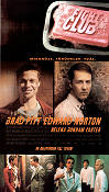 Fight Club 1999 Movie poster Brad Pitt David Fincher