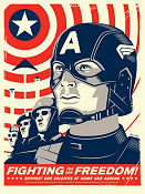 Limited Litho Fighting For Our Freedom Captain America No 100 of 220 2011 poster