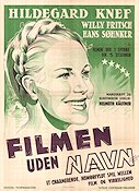 Film ohne Titel 1948 Movie poster Hildegard Knef