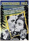 Finnskogens folk 1954 Movie poster Birger Malmsten