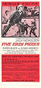 Five Easy Pieces 1971 Movie poster Jack Nicholson Bob Rafelson