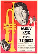 Five Pennies 1959 Movie poster Danny Kaye