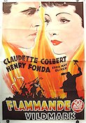 Drums Along the Mohawk 1940 poster Claudette Colbert John Ford