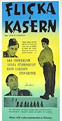 Flicka i kasern 1955 Movie poster �ke S�derblom