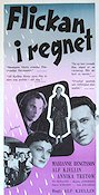 Flickan i regnet 1955 Movie poster Marianne Bengtsson