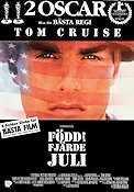 Born on the 4th of July 1989 Movie poster Tom Cruise Oliver Stone
