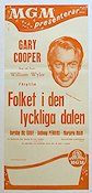 Friendly Persuasion 1957 Movie poster Gary Cooper William Wyler