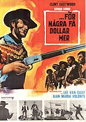 For a Few Dollars More 1966 poster Clint Eastwood Sergio Leone