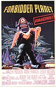 Forbidden Planet 1956 Movie poster Walter Pidgeon Fred M Wilcox