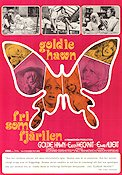 Butterflies Are Free 1972 Movie poster Goldie Hawn
