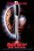 Friday the 13th part 7 1988 Movie poster John Carl Buechler