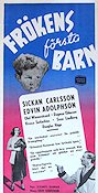 Fr�kens f�rsta barn 1950 Movie poster Sickan Carlsson