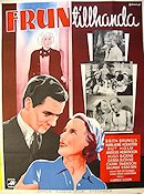 Frun tillhanda 1939 Movie poster Britta Brunius