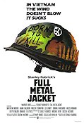 Full Metal Jacket 1987 Movie poster Matthew Modine Stanley Kubrick
