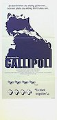 Gallipoli 1982 poster Mel Gibson Peter Weir