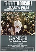 Gandhi 1982 Movie poster Ben Kingsley Richard Attenborough