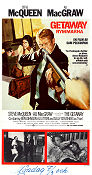 The Getaway 1973 Movie poster Steve McQueen Sam Peckinpah