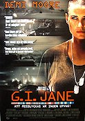 GI Jane 1997 Movie poster Demi Moore Ridley Scott