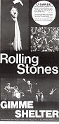 Gimme Shelter 1970 poster Rolling Stones David Maysles