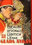 The Merry Widow 1934 Movie poster Maurice Chevalier Ernst Lubitsch