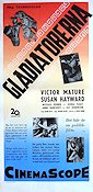 Demetrius and the Gladiators 1954 Movie poster Victor Mature