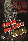 Gold Diggers of 1935 1936 poster Adolphe Menjou Busby Berkeley