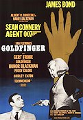 Goldfinger 1964 Movie poster Sean Connery