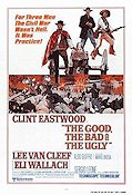 The Good the Bad and the Ugly 1968 Movie poster Clint Eastwood Sergio Leone