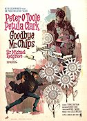 Goodbye Mr Chips 1970 Movie poster Peter O'Toole