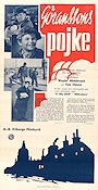 G�ranssons pojke 1941 Movie poster Weyler Hildebrand