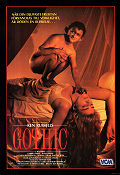 Gothic 1986 Movie poster Gabriel Byrne