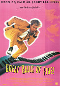 Great Balls of Fire 1989 Movie poster Dennis Quaid