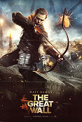 The Great Wall 2016 poster Matt Damon Yimou Zhang