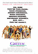 Greedy 1994 Movie poster Michael J Fox