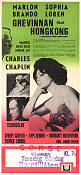A Countess from Hong Kong 1967 poster Sophia Loren Charles Chaplin