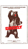 Grizzly 1976 Movie poster Christopher George