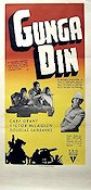 Gunga Din 1939 Movie poster Cary Grant