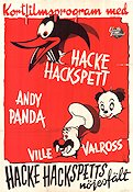Hacke Hackspetts nöjesfält 1947 Movie poster Woody Woodpecker