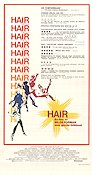 Hair 1979 poster John Savage Milos Forman