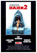 Jaws 2 1978 Movie poster Roy Scheider Jeannot Szwarc