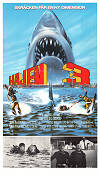 Jaws 3 1982 Movie poster Dennis Quaid