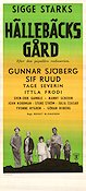 H�lleb�cks g�rd 1961 Movie poster Gunnar Sj�berg