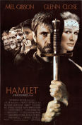 Hamlet 1990 Movie poster Mel Gibson